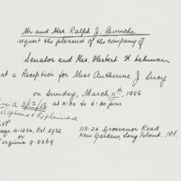 Invitation: 1956 March 11