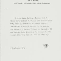 Letter: 1963 September 3