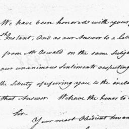 Document, 1782 November 6