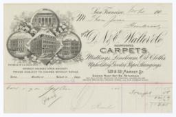 D. N. & E. Walter Co.. Bill - Recto