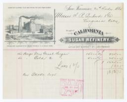 California Sugar Refinery. Bill - Recto