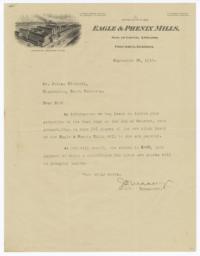 Eagle & Phenix Mills. Letter - Recto