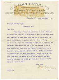 Claflen Paving Co.. Letter - Recto