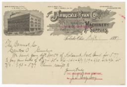 Arbuckle-Ryan Co.. Letter - Recto