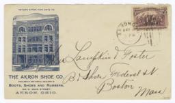 Akron Shoe Co.. Envelope - Recto