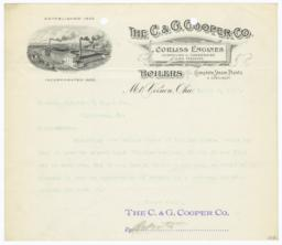 C. & G. Cooper Co.. Letter - Recto