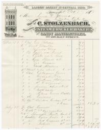 C. Stolzenbach. Bill - Recto