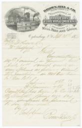 Brown, Bill & Co.. Letter - Recto