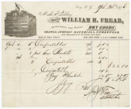 William H. Frear. Bill - Recto
