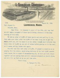 L. Sprague Company. Bill - Recto