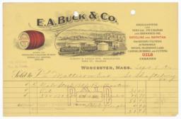 E. A. Buck Co.. Bill - Recto