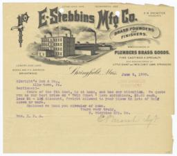 E. Stebbings Mfg. Co.. Bill - Recto