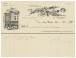 Barnard, Sumner, and Putnam Company. Bill - Recto