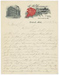 C. W. Farmer Engraving Company. Letter - Recto