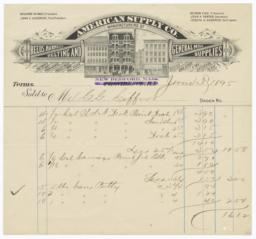 American Supply Co.. Bill - Recto