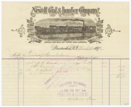 Newell Coal & Lumber Company. Bill - Recto