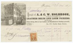 A. & C. W. Holbrook. Bill - Recto