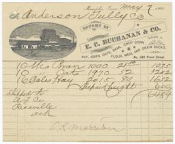 E. C. Buchanan & Co.. Bill - Recto