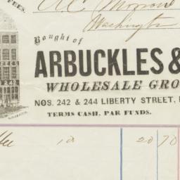 Arbuckles & Co.. Bill