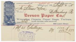 Beeson Paper Co.. Bill - Recto
