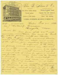 Thos. B. Adams & Co.. Letter - Recto