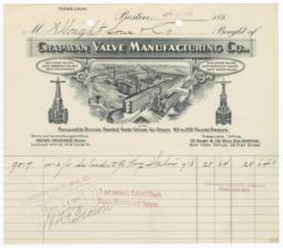 Chapman Valve Manufacturing Co.. Bill - Recto