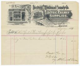 Eastern Electrical Supply Co.. Bill - Recto