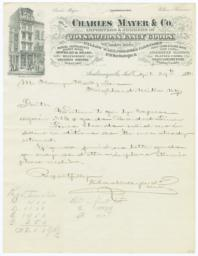 Charles Mayer & Co.. Letter - Recto