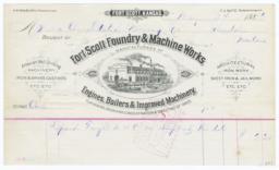 Fort Scott Foundry & Machine Works. Bill - Recto