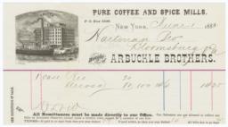 Arbuckle Bros.. Bill - Recto