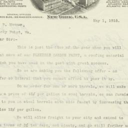 Atlantic Paint Co.. Letter