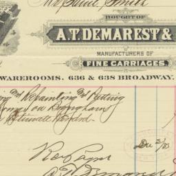 A.T. Demarest & Co.. Bill