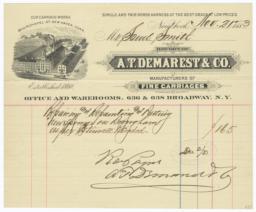 A.T. Demarest & Co.. Bill - Recto