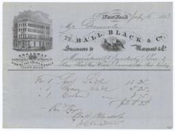 Ball, Black & Co.. Bill - Recto