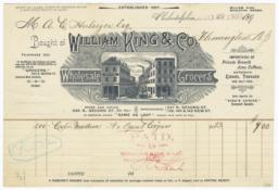 William King & Co.. Bill - Recto
