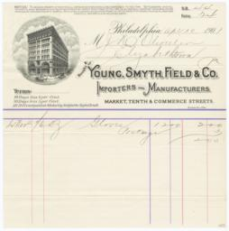 Young, Smyth, Field & Co.. Bill - Recto