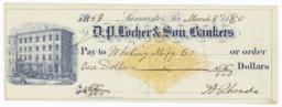 D. P. Locher & Son, Bankers. Check - Recto