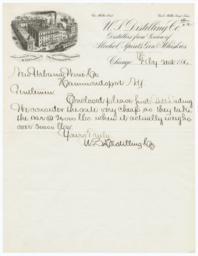 U.S. Distilling Co.. Letter - Recto