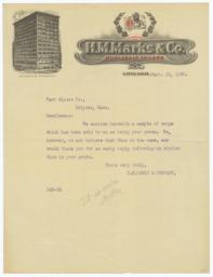 H. M. Marks. Letter - Recto