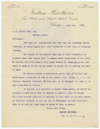 Norton Brothers. Letter - Verso