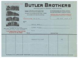 Butler Brothers. Bill - Recto