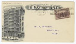 A.H. Andrews & Co.. Envelope - Recto