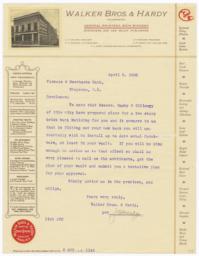 Walker Bros. & Hardy. Letter - Recto