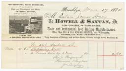 Howell & Saxtan. Bill - Recto