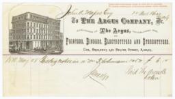 Argus Company. Bill - Recto