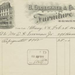 B. Gloeckner & Co. Inc.. Bill