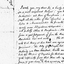 Document, 1776 May 18