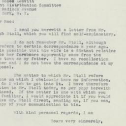 Letter: 1951 November 19