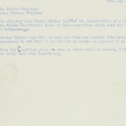 Memorandum: 1951 February 19
