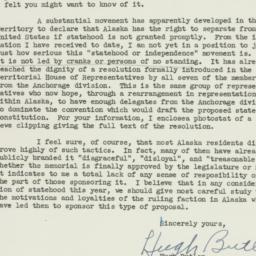 Letter: 1951 February 17